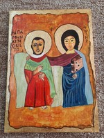 A4 size icon on wooden board