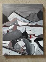 Sándor Bálint: cold road 50x40cm