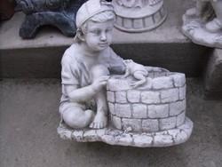 Garden stone sculpture antifreeze artificial stone sculpture flowerpot boy frog tub fountain pattern bubbling is also good