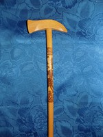 Deer ornate old degree walking stick made of wood 77 cm