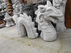 Oriental Japanese garden dragon snake stone sculpture antifreeze artificial stone feng shui gardening element