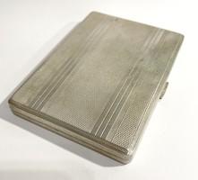 Art deco silver cigarette case, business card holder - 118g