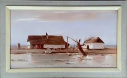 Csaba Fejér (1936-2002) homestead 50x90cm + frame