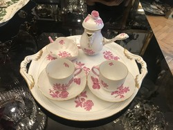 Herend purpur victoria patterned chocolate service for 2 people