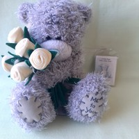 Teddy bear, teddy bear with bouquet of flowers, me to you brand!