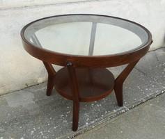 Gyönyörűen felújított Art deco kávézó asztal ( J . Halabala ).