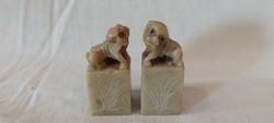 Foo kutya zsírkő szobor pár