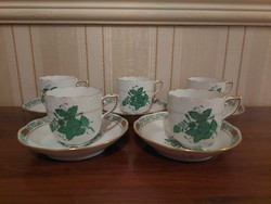 Herend apponyi patterned coffee cup with base,