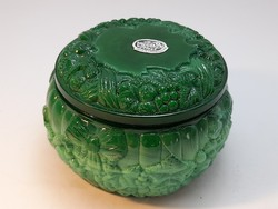 Czech bohemia malachite in glass jar