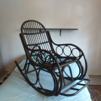 Large rocking chair made of Thonet willow