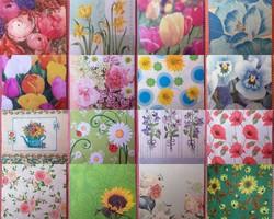16 pcs floral pattern 3 ply napkins for sale 2.