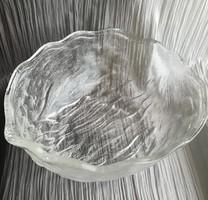 1.1Kg! Walnut shape - large, solid glass bowl 25X20x9cm