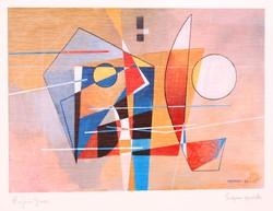 Proferio grossi (1923-2000): enigma speziale, 1988 - framed artistic print