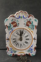Antique 2 heavy porcelain flat wall clock 506