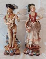 Old, marked, larger, German, Lippendorf porcelain figurine pair 29 cm