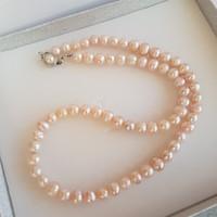 Freshwater pearl string.