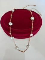 Ezüst nyaklánc gyöngyökkel