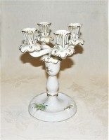 Herend candlestick with 4 branches - hecsedli - rosehip pattern