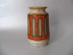 Retro kerámia váza, jelzett (Várdeák I.)