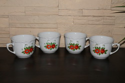 Kahla retro flower patterned mugs - 4 pcs.
