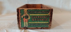 Gschwindt candied plum flavor canned in wooden box