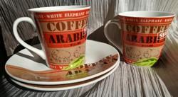 New! Luminarc-2-person porcelain coffee set!