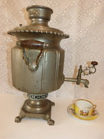 Antique, Russian, batashev copper samovar
