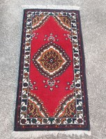 Thick hand-knotted Indian rug, nostalgia piece, collector's beauty.