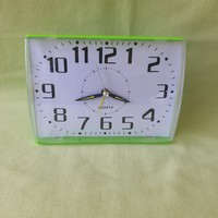 Retro green alarm clock