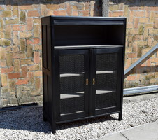 Cabinet in black colors, industrial, loft style
