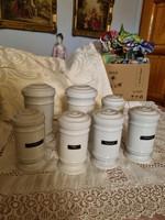 Zsolnay  fűszertartó  vagy patika  tégly    11000 ft     1 db