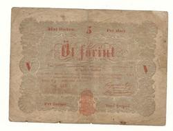 1848 as 5 forint Kossuth bankó papírpénz bankjegy 48 49 es szabadságharc pénz sor ahi