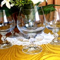 New crystal stemmed glasses