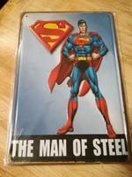 Lemeztábla,reklámtábla,retro,Superman