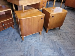 Retro old chest of drawers mid century bedside table 2 pcs