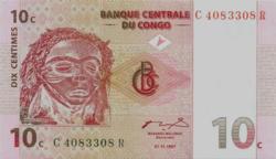 Kongói Dem. Köztársaság 10 Kongói Centimes 1997 UNC