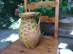 Showy large polka dot bitch pitcher jar of silk