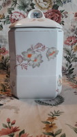 Old porcelain spice rack for kitchen storage