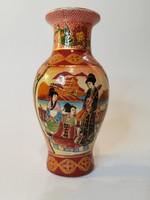 Richly painted satsuma-style vase