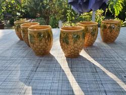 Ceramic wine glasses 6 pcs