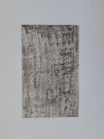 Gyarmathy Tihamér: variations on cosmic space, original marked, numbered etching 1969
