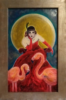 Art deco.Bál után. 50x 70 cm. After the ball  Certified, contemporary artist