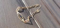 Art deco , zafír-gyémánt , arany karkötő
