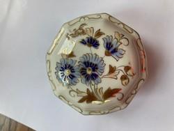 Zsolnay cornflower pattern polygonal bonbonier