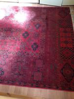 Sötétvörös szőnyeg,  gyapjú perzsaszőnyeg, wool persian rug carpet