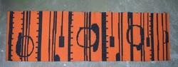 Retro woven kilim needlework wall hanging wall mat 193 x 58 cm