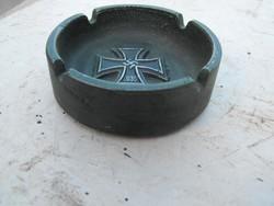 Német Birodalmi  Vaskeresztes hamutál  Emlék Múzeumi replika Fém tál