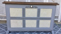 Vintage shoe storage chest of drawers, bench