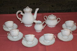 Zsolnay baroque feathered coffee set