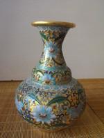 Compartment enamel vase